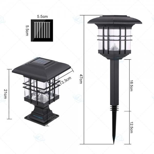 đèn sân vườn năng lượng mặt trời cao cấp